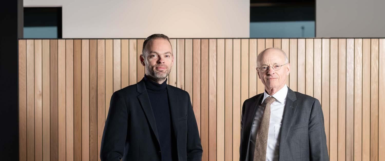 Eigenaren Gerrit en Gerard van Ee